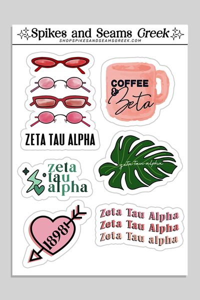 Sorority sticker set #2 - Spikes and Seams Greek