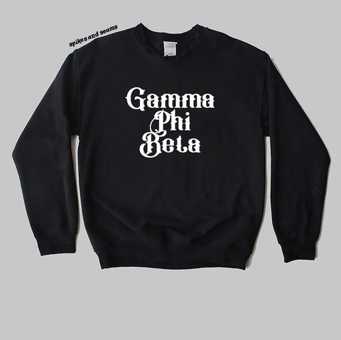 Gothic Text Sweatshirt - pick your sorority! - Spikes and Seams Greek