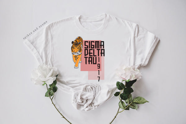 Tiger Tee - most sororities available! - Spikes and Seams Greek