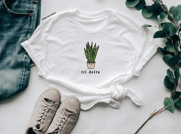 Snake Plant tee - choose your sorority! - Spikes and Seams Greek