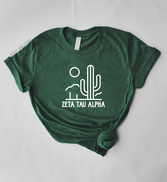 Green Desert Tee - pick your sorority! - Spikes and Seams Greek