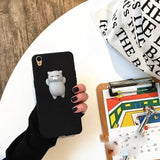 Fitted Case Cat 1 Black / For iPhone 6 6s Cute Squishy Cat Silicon iPhone Case