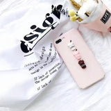 Fitted Case Milk Bottle Pink / For iPhone 6 6s Cute Squishy Cat Silicon iPhone Case