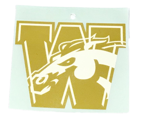 WMU W with Horsehead Car Decal