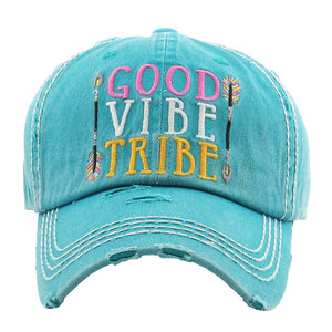 Good Vibe Tribe Washed Vintage Ballcap