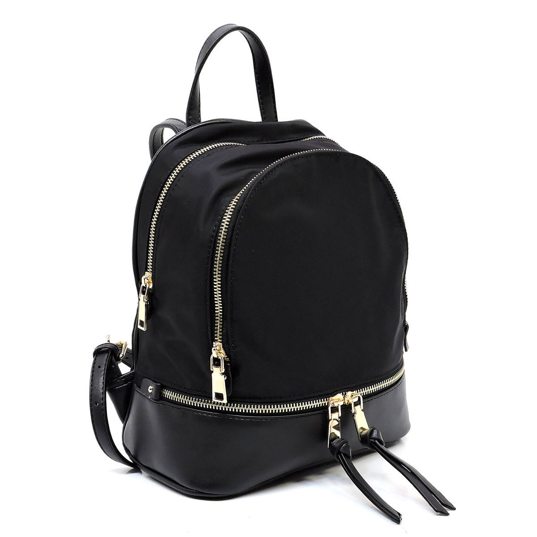 DF3139 Nylon Colorblock Fashion Backpack