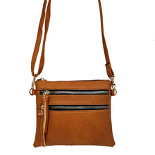 HF522A Double Zipper Small Crossbody Bag