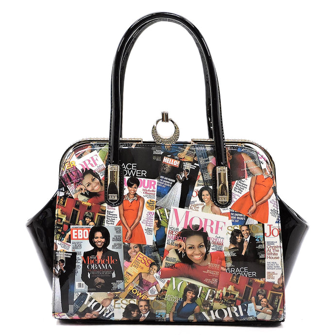 Magazine Cover Collage Frame Satchel