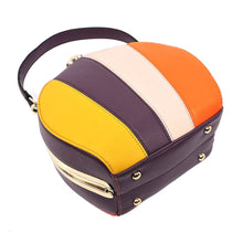 Multi Stiped Frame Satchel