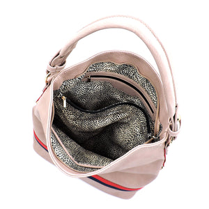 Canvas Stripe 2-in-1 Shoulder Bag Hobo