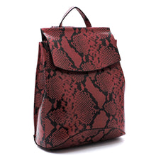 Python Snake Skin Convertible Backpack Satchel