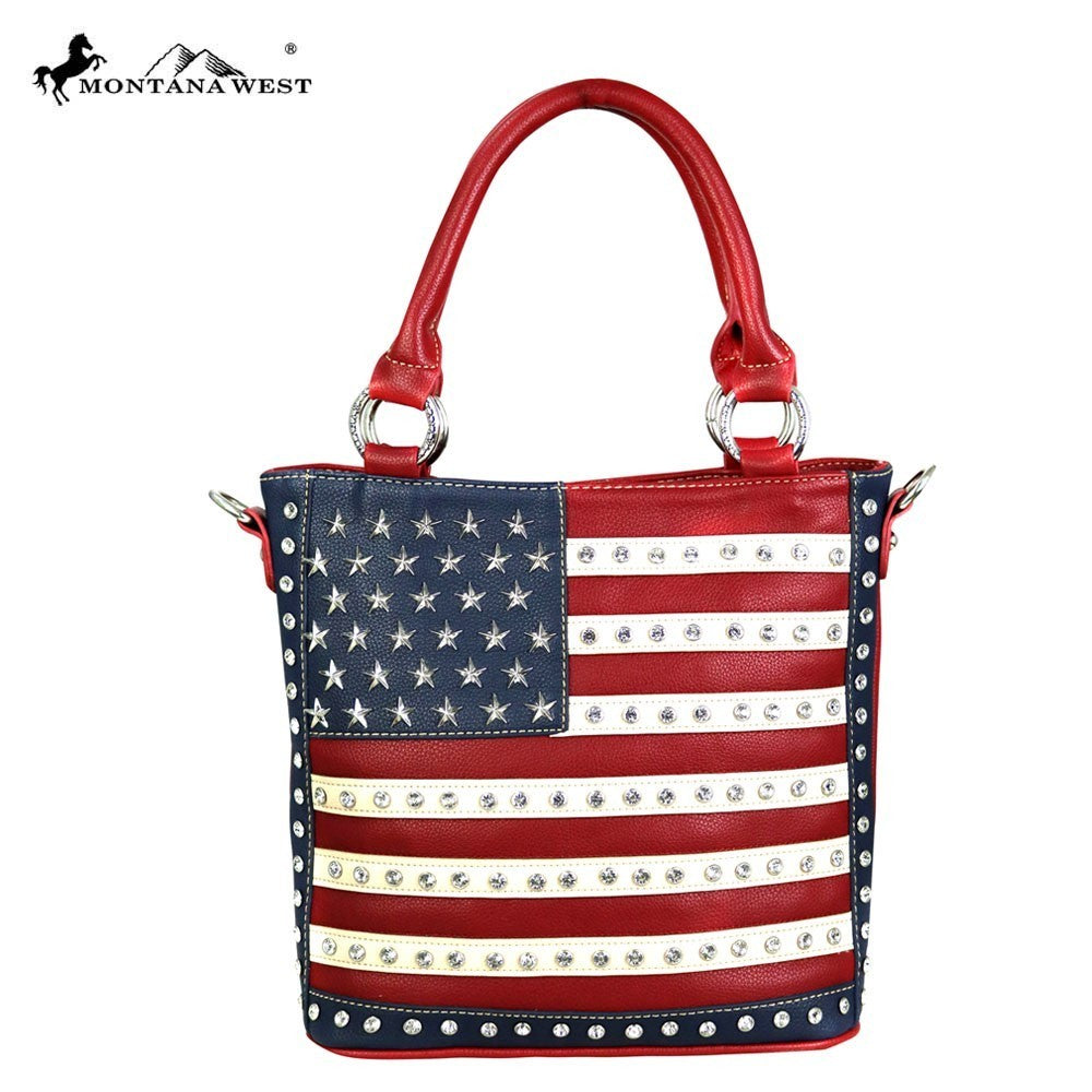 US04G-8461 Montana West American Pride Concealed Handgun Collection Tote/Crossbody
