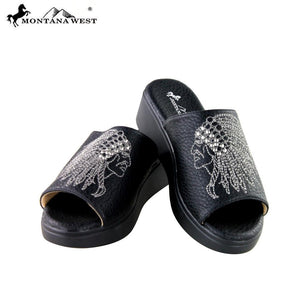 SH-007 Montana West Embroidery Collection Western Wedge Sandal Collection