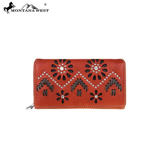 MW530-W010 Montana West Aztec Collection Secretary Style Wallet