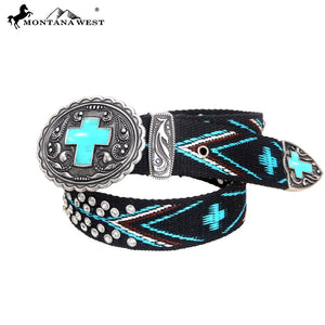 BT-018A Montana West Western Aztec Collection Belt