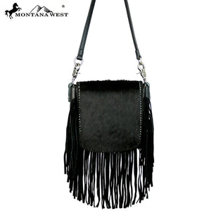 RLC-L081 Montana West 100% Real Leather Hair-On Crossbody