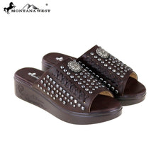 SH-013 Montana West Studs Collection Western Wedge Sandal Collection