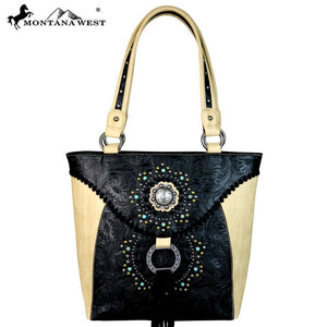 MW561-8317 Montana West Concho Collection Tote
