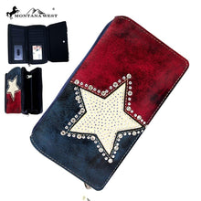 TX15-W010 Montana West Texas Pride Collection Secretary Style Wallet