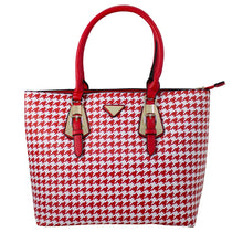 E0025 Houndstooth Fashion Tote