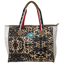 LEOPARD PRINT LARGE TOTE