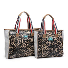 LEOPARD PRINT TOTES - SET 2 IN 1