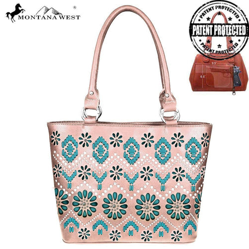 MW530G-8317 Montana West Aztec Collection Concealed Handgun Tote Bag