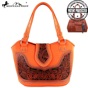 WRLG-8005 Montana West Tooling Concealed Handgun Collection Handbag