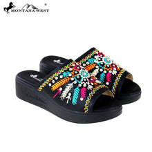 SH-017 Montana West Embroidery Collection Western Wedge Sandal Collection