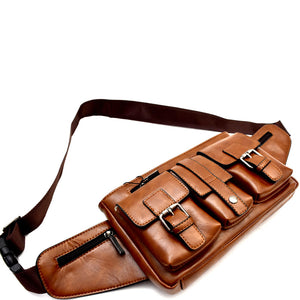 Unisex Multi-Pocket Fanny Pack Sling Bag MH-A9-1058