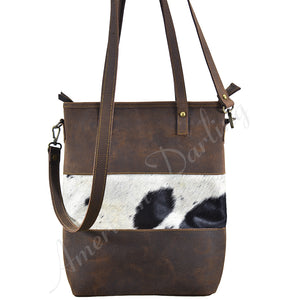 Leather Handbag With Hide