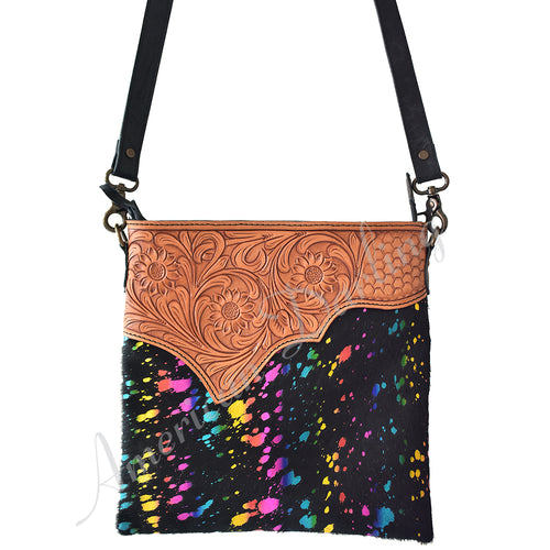Cow Hair Crossbody Multi Color
