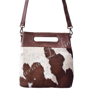 Brown & White Hide Crossbody