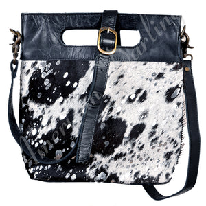 Hair On Hide Leather Clutch Bag ~ Cross Body