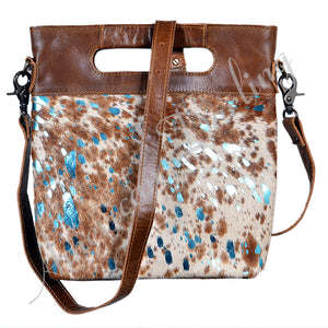 Acid Turquoise Hide Crossbody