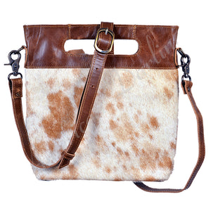 Tan & White Hide Crossbody