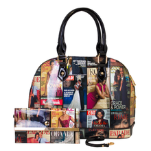 Magazine  Wallet Print Patent Shoulder Design Handbag Obama