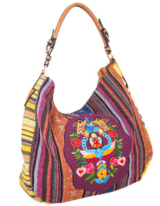DESIGNER CHIC EMBROIDERED HOBO BAG  CJF039