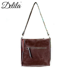 Delila 100% Genuine Leather Hand Embroidered Collection Mini Tote