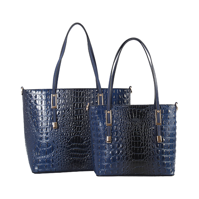 DESIGNER 2 IN 1 CROC HANDBAG SET