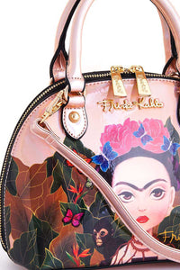FHC933 Authentic Cartoon Version Hologram Frida Kahlo Mini Dome Satchel