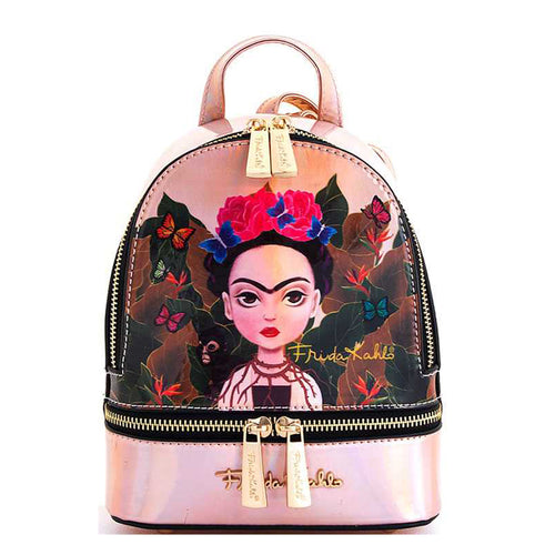 FHC980 Authentic Cartoon Version Hologram Frida Kahlo Mini Backpack