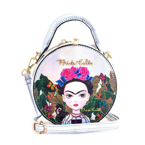 FHC990 Authentic Cartoon Version Hologram Frida Kahlo Mini Shoulder Bag