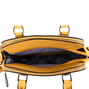 Three Compartment Satchel
