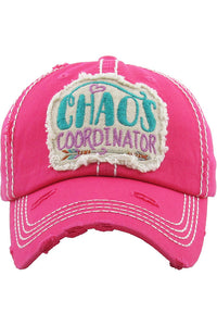 Chaos Coordinator Vintage Distressed Baseball Cap