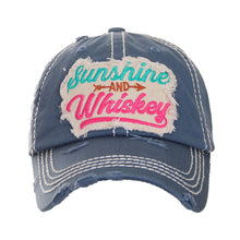 Sunshine And Whiskey Vintage Distressed Baseball Cap