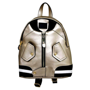 LY100 Bomber Jacket-Style Fashion Backpack