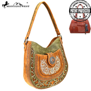 MW424G-8491 Montana West Concho Collection Concealed Carry Hobo