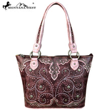 MW636-8317 Montana West Concho Collection Tote