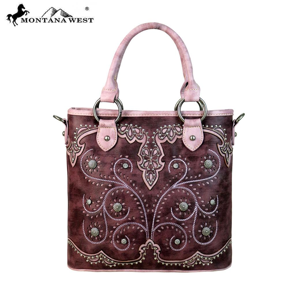 MW636-8461 Montana West Concho Collection Satchel/Crossbody